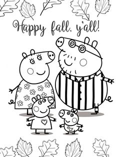 Peppa pig family happy fall coloring pages. Free picture to download and print. Collection of cartoon coloring pages for teenage printable that you can download and print. #ColoringPagesPeppaPig, #PeppaPig, #Printable #ColoringPagesPeppaPig, #PeppaPig, #Printable Nick Jr Coloring Pages, Peppa Pig Coloring Pages, Ninja Turtle Coloring Pages, Zoo Animal Coloring Pages, Family Coloring Pages, Paw Patrol Coloring Pages, Birthday Coloring Pages, Valentines Day Coloring Page, Coloring Pages For Girls