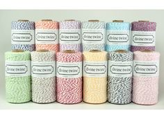 Oyster  Gray and White Bakers Twine  240 yards by WhiskerGraphics, $15.00