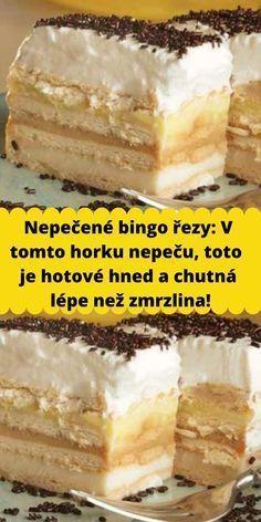 Perfect Cheesecake Recipe, Cheesecake Recipes, Czech Recipes, Ethnic Recipes, Disney Menus, Gelatin Recipes, Good Food, Yummy Food, Sweet Cakes