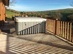 Hideaway Lodge - Luxury lodge located at Bossiney Bay, a short walk to the beach, the coastal path and Tintagel. Bedroom With Ensuite, Outdoor Furniture, Outdoor Decor, Cornwall, Paths, Coastal, Deck, Cottage, Luxury