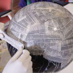 DIY paper mache space helmet