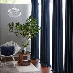 Ripple Gl Pendant Oval Blue Velvet Curtains Bedroom Living
