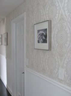 Wallpaper in Hallway | Black Pearl Interiors