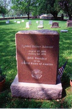 Lyndon Baines Johnson (1908 - 1973) - 36th United States President,Of The United States. Johnson Family Cemetery LBJ Ranch Route 290 Stonewall Gillespie County Texas USA