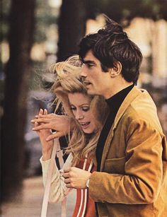 Catherine Deneuve and Samy Frey in Manon 70 directed by Jean Aurel, 1968