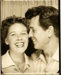 Candid Photo Booth of Rock Hudson and Phyllis Gates. From The Rock Hudson project.