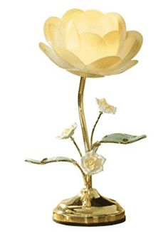 Collections Etc. Lotus Flower Touch Lamp, Table Lamp with Lotus Design, Yellow Touch Table Lamps, Touch Lamp, Lamp Table, Oil Lamp Centerpiece, Flower Lamp, Lotus Flower, Novelty Lamps, Victorian Lamps, Nightstand Lamp