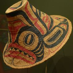 Adams. P. (Weaving), Davidson, R. (Painting).  Painted Basketry Hat.  Nelson-Atkins Museum