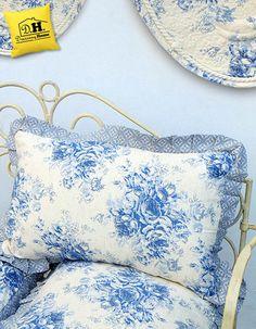 Cuscino arredo della Collezione Blue Garden