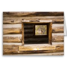 Through and Through Cabin Window Card from Florals by Fred #zazzle #gift
