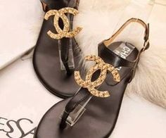 The Millionairess of Pennsylvania: Chanel Summer Sandals. - Chanel Skincare - Ideas of Chanel Skincare - The Millionairess of Pennsylvania: Chanel Summer Sandals. Cute Sandals, Cute Shoes, Me Too Shoes, Flat Sandals, Pretty Sandals, Pretty Shoes, Shoe Boots, Shoes Heels, Strappy Shoes