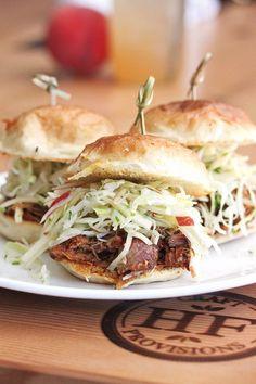 Fanta Pork Sliders {Food photos from Hock Farm in Sacramento, CA}