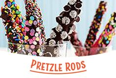 Pretzel Rods, Something Sweet, Sprinkles, Candy, Creative, Sweets, Candy Bars, Chocolates