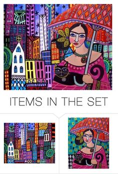 """Folk art"" by juliehalloran ❤ liked on Polyvore featuring art"