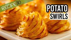 O futuro só depende de você! : Buttery Potato Swirls known as Pommes Duchesse Veg Dishes, Potato Dishes, Tasty Dishes, Side Dishes, Parmesan Potato Stacks Recipe, Food Garnishes, Good Food, Yummy Food, Recipe 30