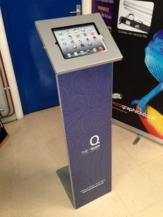 Another image of the new Tabboy Display secure iPad kiosk from MicroGraphics