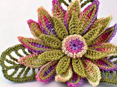 thread crochet flowers - Google Search