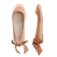 Ballet flats for flower girl.