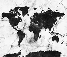 world map marble