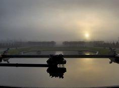 Le domaine de Versailles : Lever de soleil hivernal au Grand Trianon