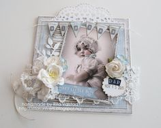 Baptism card with Maja design