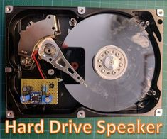Many people have an old hard drive laying around. In this project we will reuse it by turning it into a speaker! While it's not super useful, it surely looks cool. Disco Duro, Electronic Engineering, Diy Electronics, Looks Cool, Inventions, Coding, Activities, Cool Stuff, Projects