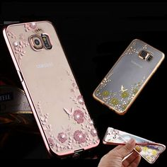 Find More Phone Bags & Cases Information about for iPhone for Samsung Galaxy Fashion Diamond Flowers TPU soft Cover Case Chic flor Bling tampa telefone TPU transparente,High Quality tpu ball,China tpu Suppliers, Cheap tpu adhesive from AsgiiAllan Store on Aliexpress.com