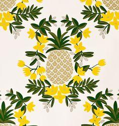 Pineapple (Yellow) Metallic Screen Printed