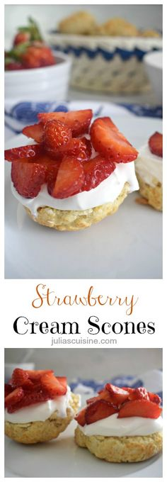 Strawberry Cream Scones http://www.juliascuisine.com/home/strawberry-cream-scones