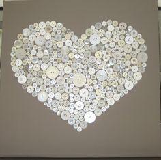 Gezien op welke.nl Knopen hart op canvas schilderij
