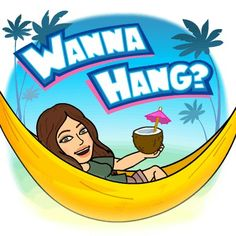 I'm dumbing it down for a minute...taking a break, lol. Time for my daily Bitmoji, girls. Contain your excitement. But, wanna hang? This looks nice, huh? My favorites--coconut water, palms and chillin' ♡... I'm a corn chip. A bored one.