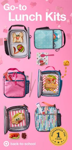 Packing your kids back-to-school lunches has never looked better, with fresh designs from Cat & Jack in tons of colors and even, yes, metallic pink. Each of these insulated lunch kits keeps kids' lunches organized and chill on the way to school. Rugged zippers and handles are build to stand up all school year long, backed by Cat & Jack's one-year guarantee.