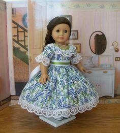 Mid 1800's Summer Dress   / Texas Bluebonnets / by Farmcookies, $64.00