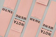Brand identity and branded envelopes for Toronto restaurant Nota Bene by graphic design studio Blok, Canada