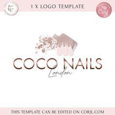 Nail Salon And Spa, Nail Logo, Eyelash Logo, London Nails, Blue Lips, Lashes Logo, Artist Logo, Branding Kit, Beauty Logo