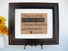 Burlap Print Wedding or Anniversary Gift by InTheDustDesigns