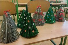 Vánoční stromky z časopisů