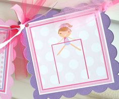 NEW  Gymnastics Birthday Banner by ToadallyCuteParties on Etsy, $30.00