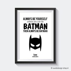 Poster Batman 'Naam' #suededesign