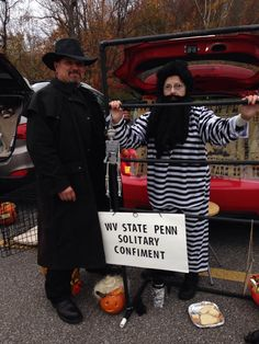 me and friend at Trunk or Treat at my church