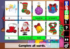 Spelling Cards Christmas Christmas Games, Spelling, Cartoon, Holiday Decor, Fun, Cards, Maps, Cartoons, Playing Cards