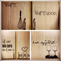 Kitchen Cabinet decals | good ideas for my house | Pinterest ...