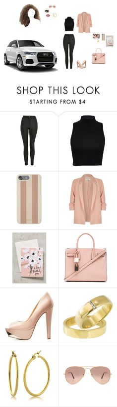 """PINK claire"" by b-king-yaya-love-jisung ❤ liked on Polyvore featuring Topshop, Michael Kors, River Island, Our Heiday, Yves Saint Laurent, Charlotte Russe, Ray-Ban and Lime Crime"