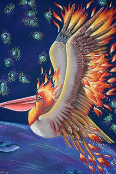 Pelican as Firebird by Ravenari (print image)
