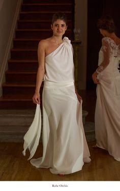 Robe de mariee en crepe de chine