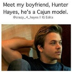 Hunter Hayes HAHAHA! Hes not a model... thank goodness. He is way better looking than any model ever! Hes just an extremely talented boy with a gorgeous voice and faith in God!<3<3<3