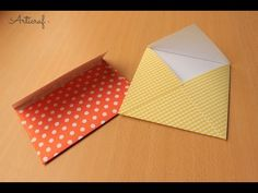 YouTube Gift Bags, Origami, Envelope, Diy, Paper, Youtube, Gifts, Straight Bob, Easy Cards