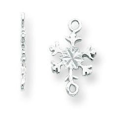 Sterling Silver 16.9 x 10.6mm Polished Snowflake Casted Component Link SS4459