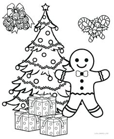 Coloring Pages Christmas Ornaments Printable Tree Page Ornament