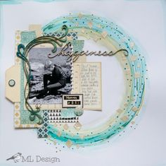 Scrapology: C is for Chipboard. Scrapbook layout by Michelle Logan. Scrapbook Sketches, Scrapbook Page Layouts, Scrapbook Cards, Scrapbooking Ideas, Paper Art, Paper Crafts, Photo Layouts, Altered Art, Making Ideas